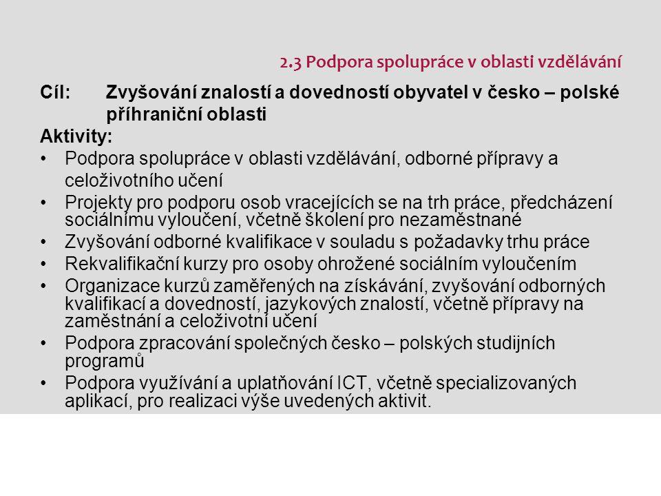 Kde hledat informace www.cz-pl.eu www.ziel3-cil3.eu www.strukturalni-fondy.cz www.kraj-lbc.cz/rozvoj www.crr.cz