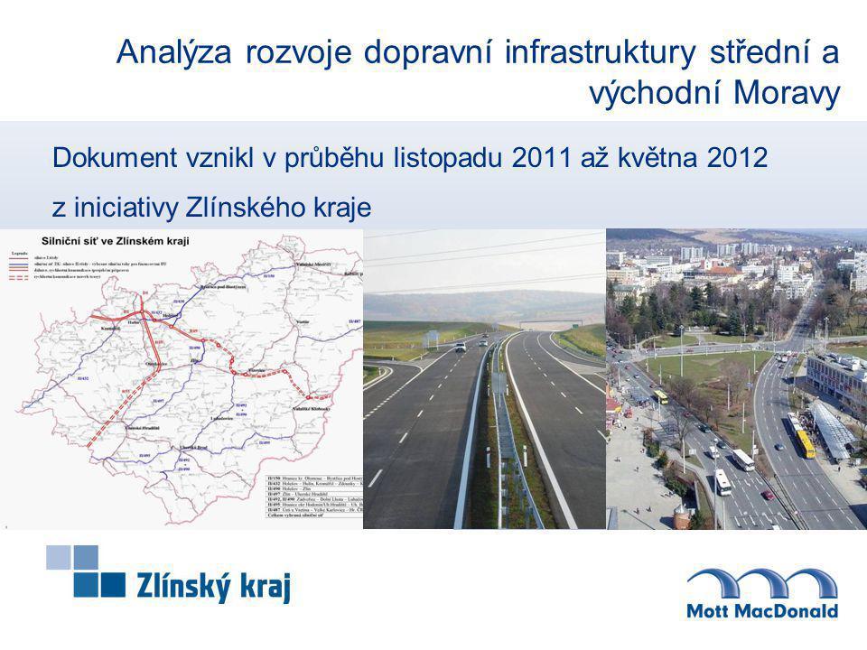 Cíle dokumentu Cílem dokumentu je analýza stávající situace regionu střední a východní Moravy a stanovení priorit dalšího rozvoje dopravní infrastruktury, a tím rovněž akcelerovat region v kontextu mezinárodním, národním i regionálním.