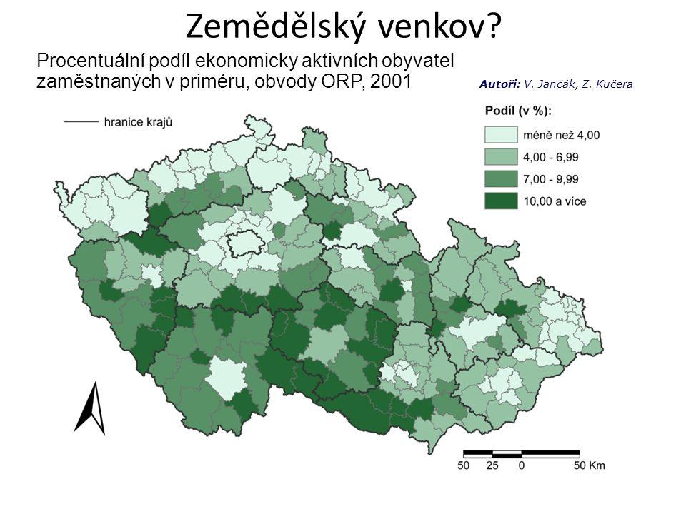 aktivizující (pohraniční, periferní) – pasivní – aktivní (žitý) venkov