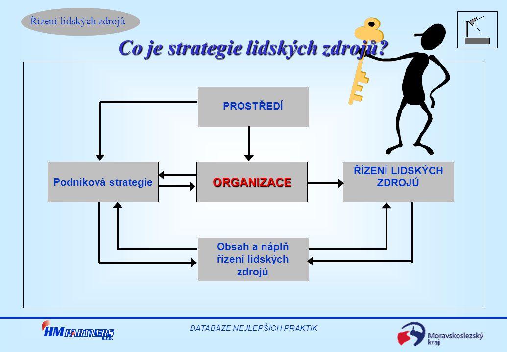 Řízení lidských zdrojů DATABÁZE NEJLEPŠÍCH PRAKTIK Co je strategie lidských zdrojů.