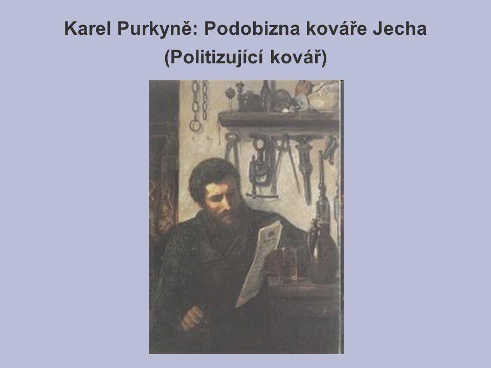 Karel Purkyně: Podobizna kováře Jecha (Politizující kovář)
