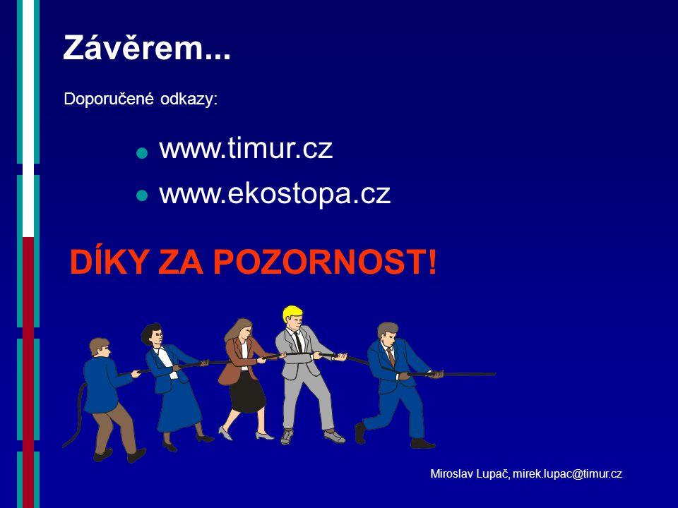 Závěrem... www.timur.cz www.ekostopa.cz Doporučené odkazy: DÍKY ZA POZORNOST.