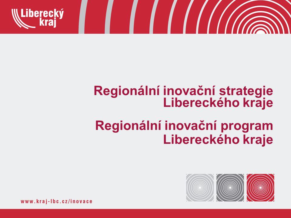 Regionální inovační strategie Libereckého kraje Regionální inovační program Libereckého kraje