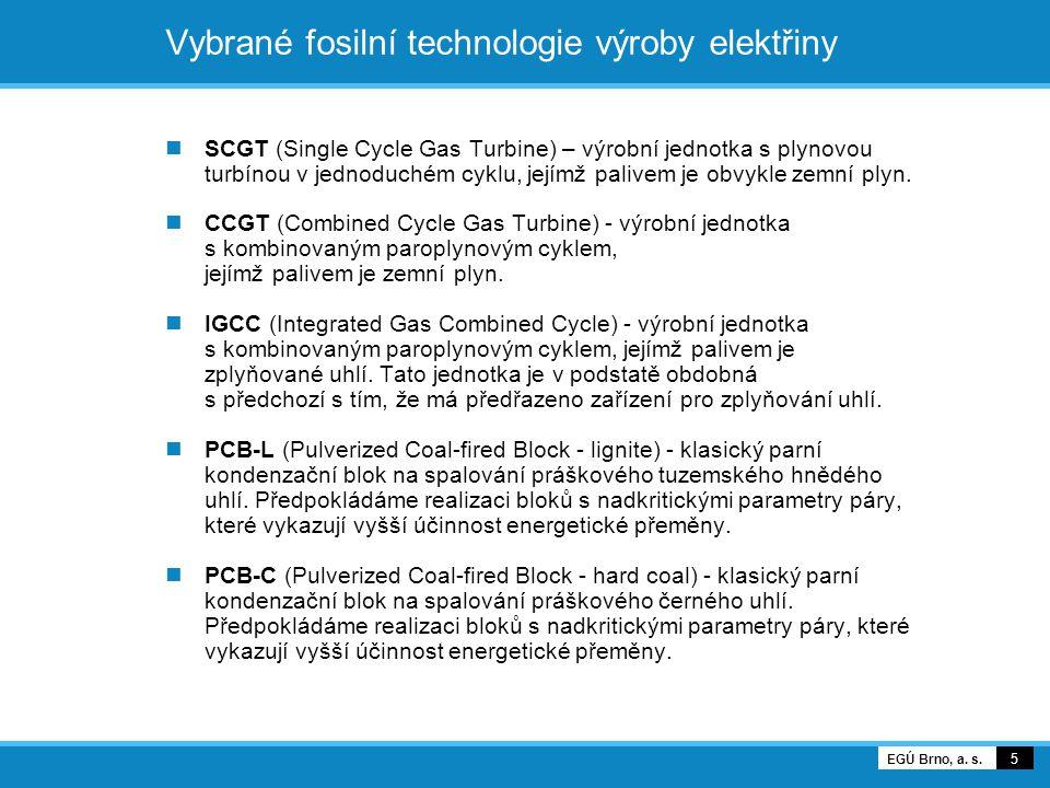 Vybrané fosilní technologie výroby elektřiny SCGT (Single Cycle Gas Turbine) – výrobní jednotka s plynovou turbínou v jednoduchém cyklu, jejímž palive