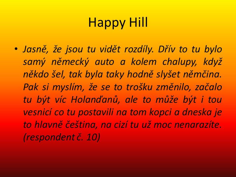 Happy Hill Jasně, že jsou tu vidět rozdíly.