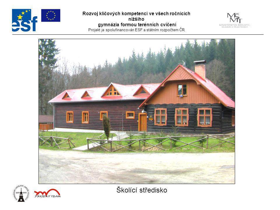 Rozvoj klíčových kompetencí ve všech ročnících nižšího gymnázia formou terénních cvičení Projekt je spolufinancován ESF a státním rozpočtem ČR Školící