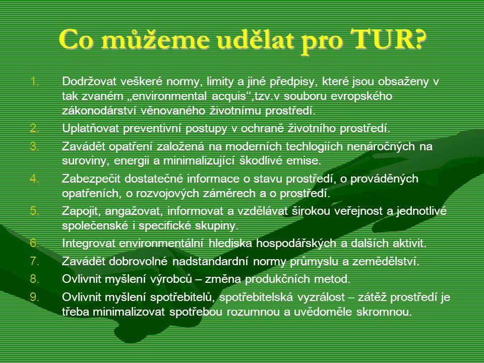 Co můžeme udělat pro TUR. 1.
