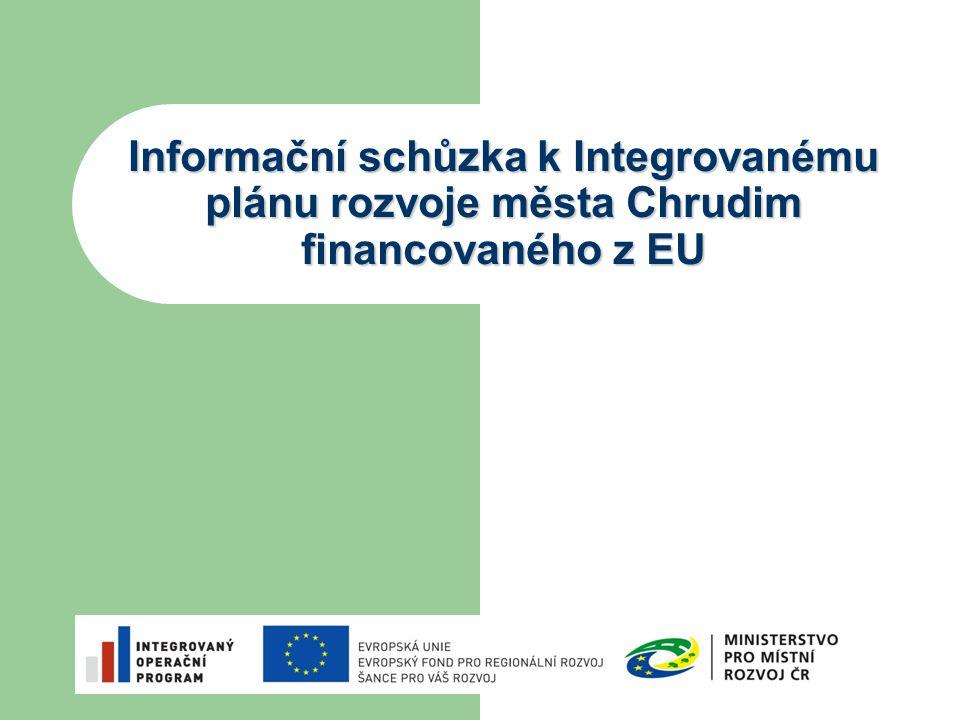 Informační schůzka k Integrovanému plánu rozvoje města Chrudim financovaného z EU 16.11. 2009
