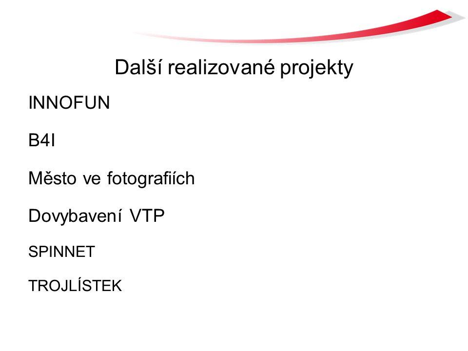Další realizované projekty INNOFUN B4I Město ve fotografiích Dovybavení VTP SPINNET TROJLÍSTEK