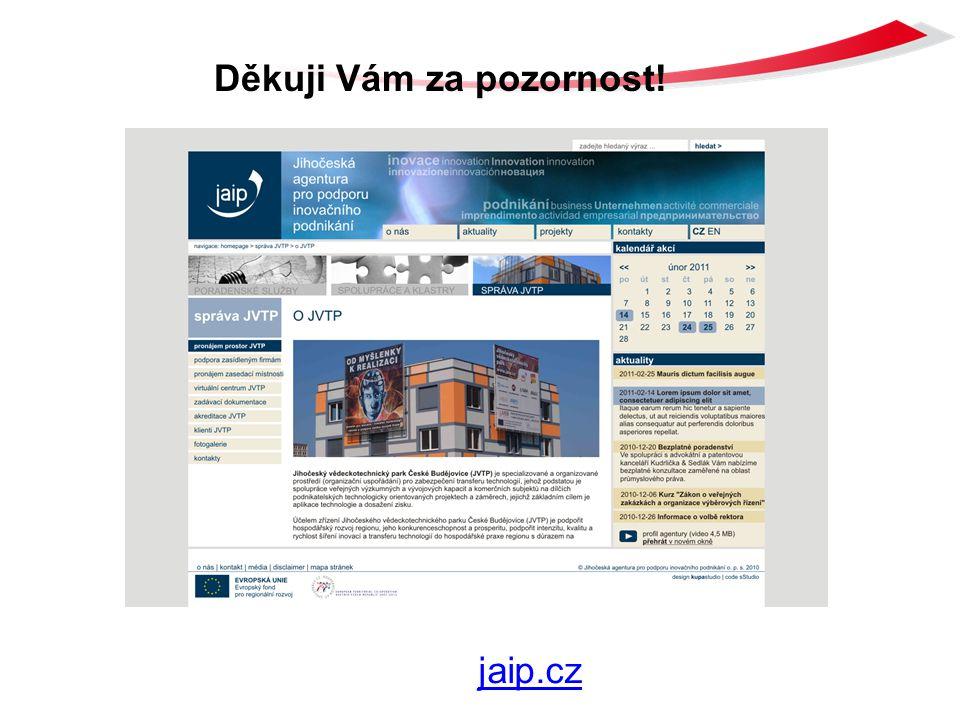 Děkuji Vám za pozornost! www.jaip.czjaip.cz