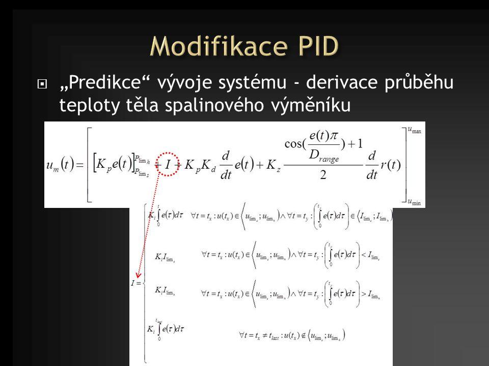  Realizace modifikovaného PID