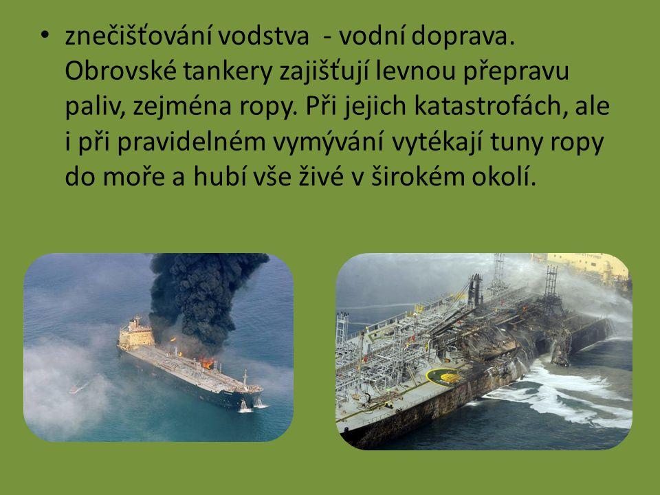 znečišťování vodstva - vodní doprava.