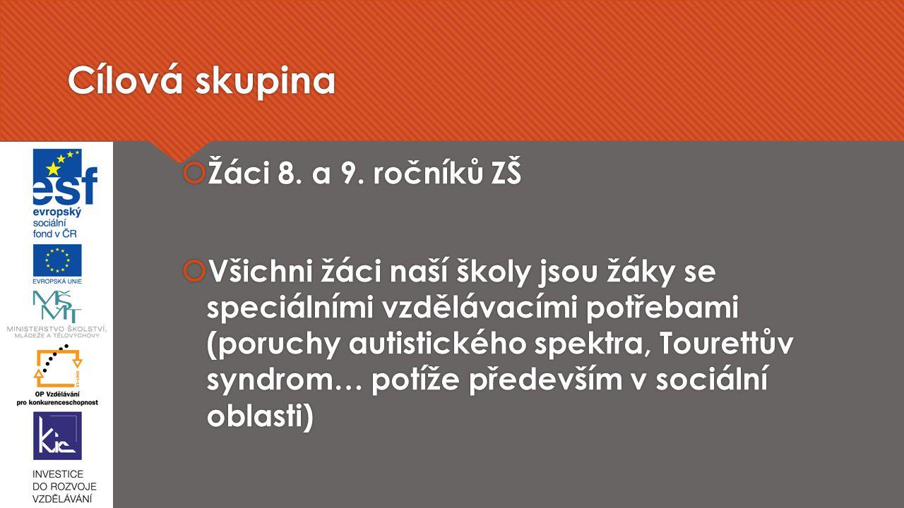 Cílová skupina  Žáci 8.a 9.