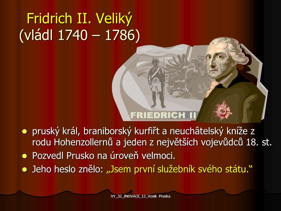 Pruská armáda Drastické omezení státních výdajů a zrušení přebytečných byrokratických funkcí přineslo dostatek peněz ve státní pokladně. Více než 80 p