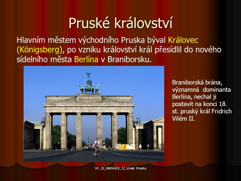 První pruský král Za vojenskou pomoc císaři získal Fridrich I. v roce 1701 titul pruského krále. Za vojenskou pomoc císaři získal Fridrich I. v roce 1