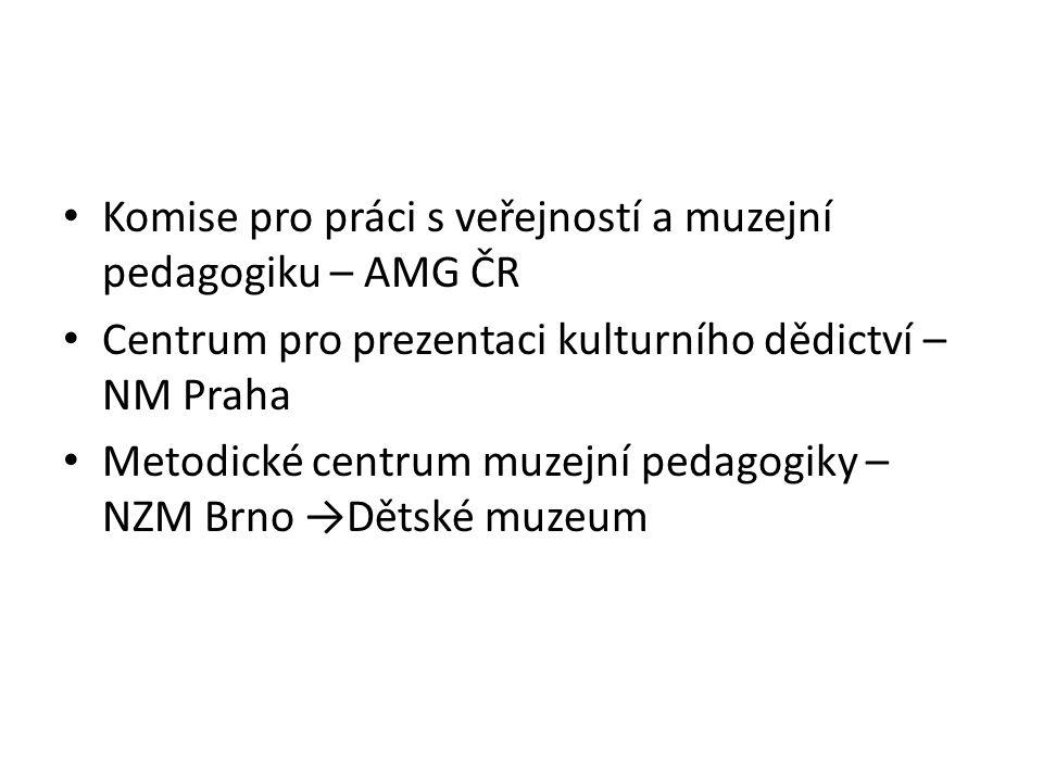Komise pro práci s veřejností a muzejní pedagogiku – AMG ČR Centrum pro prezentaci kulturního dědictví – NM Praha Metodické centrum muzejní pedagogiky