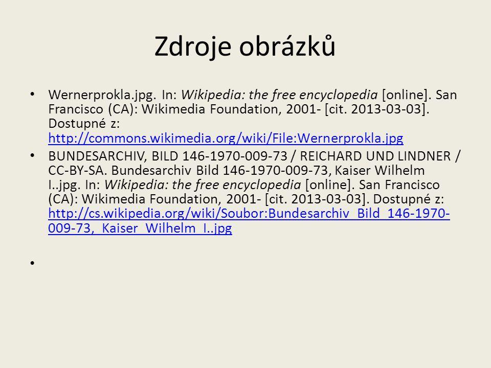 Zdroje obrázků Wernerprokla.jpg. In: Wikipedia: the free encyclopedia [online]. San Francisco (CA): Wikimedia Foundation, 2001- [cit. 2013-03-03]. Dos