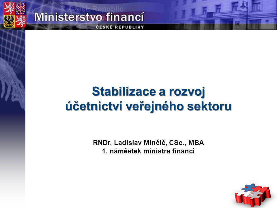 Page  1 YOUR LOGO STÁTNÍ Stabilizace a rozvoj účetnictví veřejného sektoru RNDr.