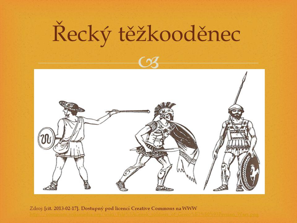  Řecký těžkooděnec Zdroj: [cit. 2013-02-17]. Dostupný pod licencí Creative Commons na WWW http://commons.wikimedia.org/wiki/File%3AGreek_soldiers_of_