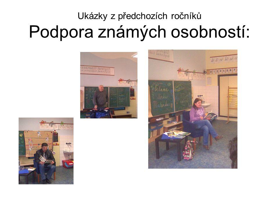 Ukázky z předchozích ročníků Podpora známých osobností:
