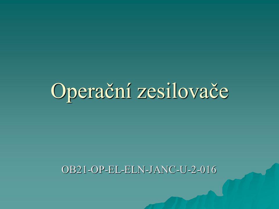 Operační zesilovače OB21-OP-EL-ELN-JANC-U-2-016