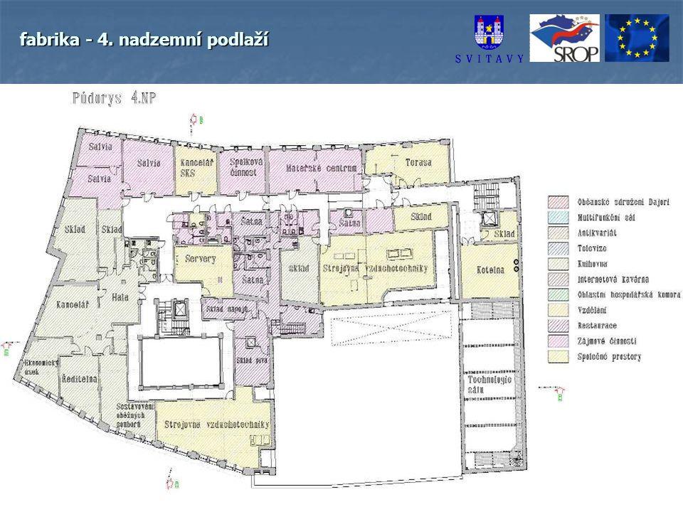 fabrika - 4. nadzemní podlaží