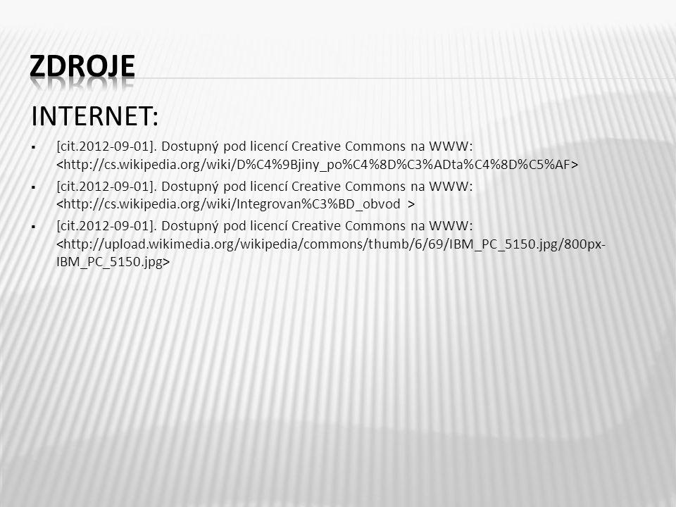 INTERNET:  [cit.2012-09-01]. Dostupný pod licencí Creative Commons na WWW: