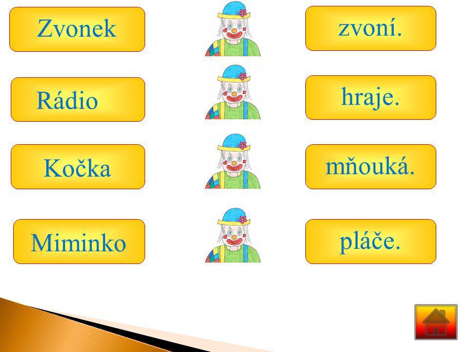 Zvonek Kočka Miminko zvoní. hraje. mňouká. pláče. Rádio