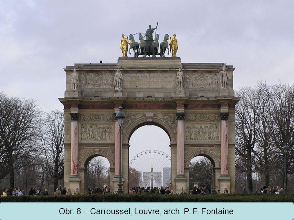 Střední škola Oselce Obr. 8 – Carroussel, Louvre, arch. P. F. Fontaine
