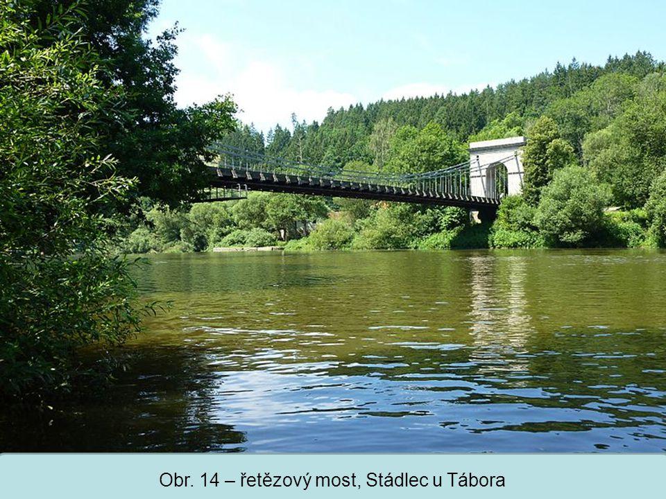 Střední škola Oselce Obr. 14 – řetězový most, Stádlec u Tábora