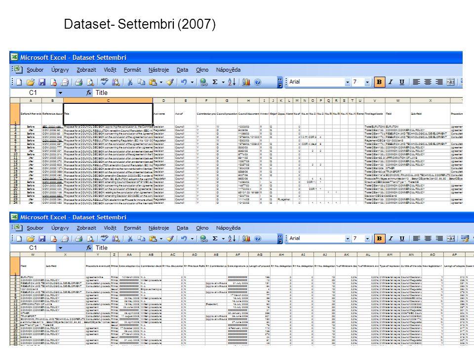 Dataset- Settembri (2007)