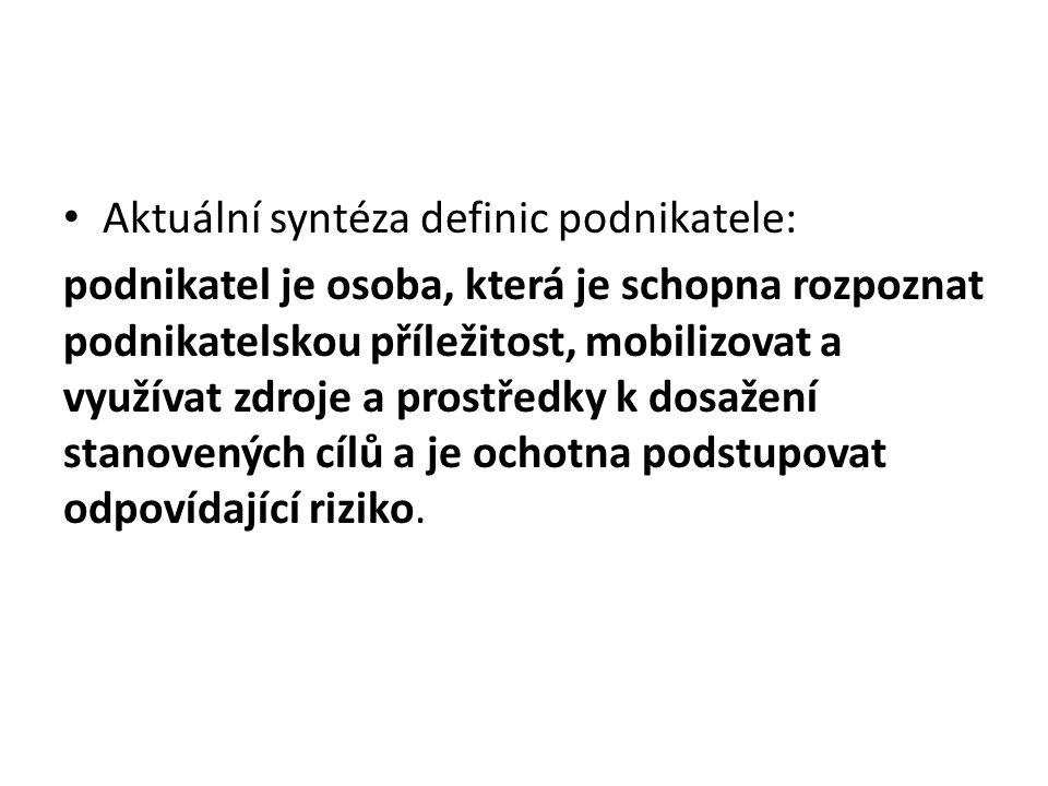 Charakteristika českého podnikatele Český statistický úřad zpracoval v roce 2007 studii: Charakteristika podnikatele v České republice