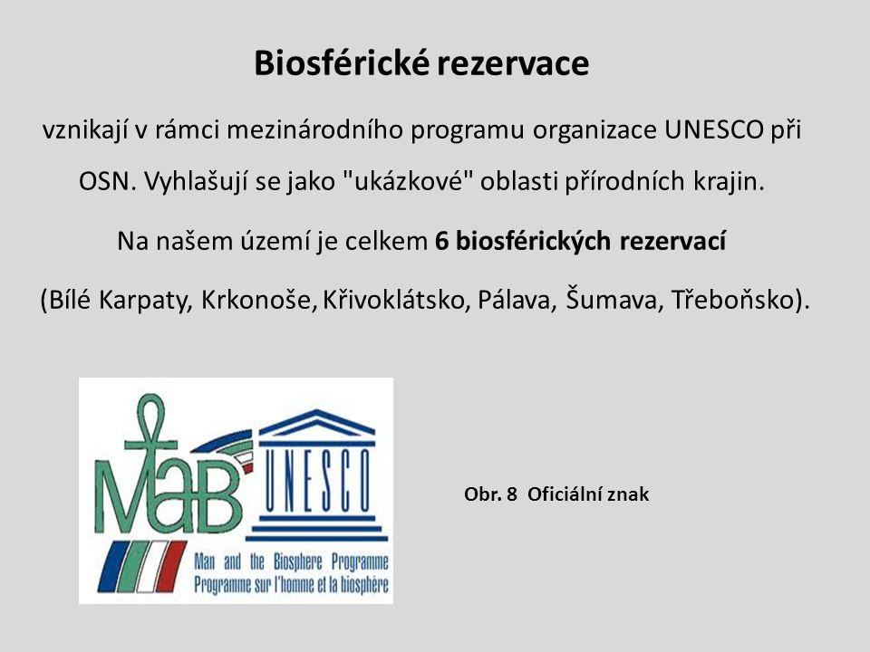 Biosférické rezervace vznikají v rámci mezinárodního programu organizace UNESCO při OSN. Vyhlašují se jako