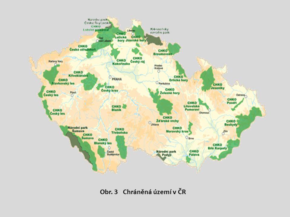 Obr. 3 Chráněná území v ČR