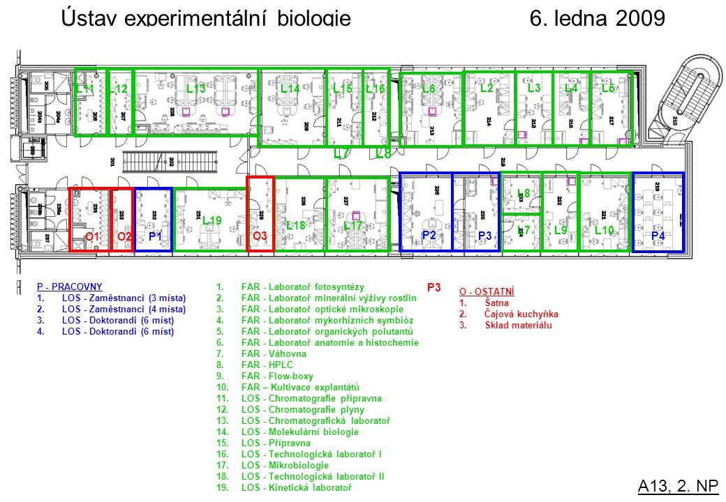 Ústav experimentální biologie 6. ledna 2009 A13, 2.
