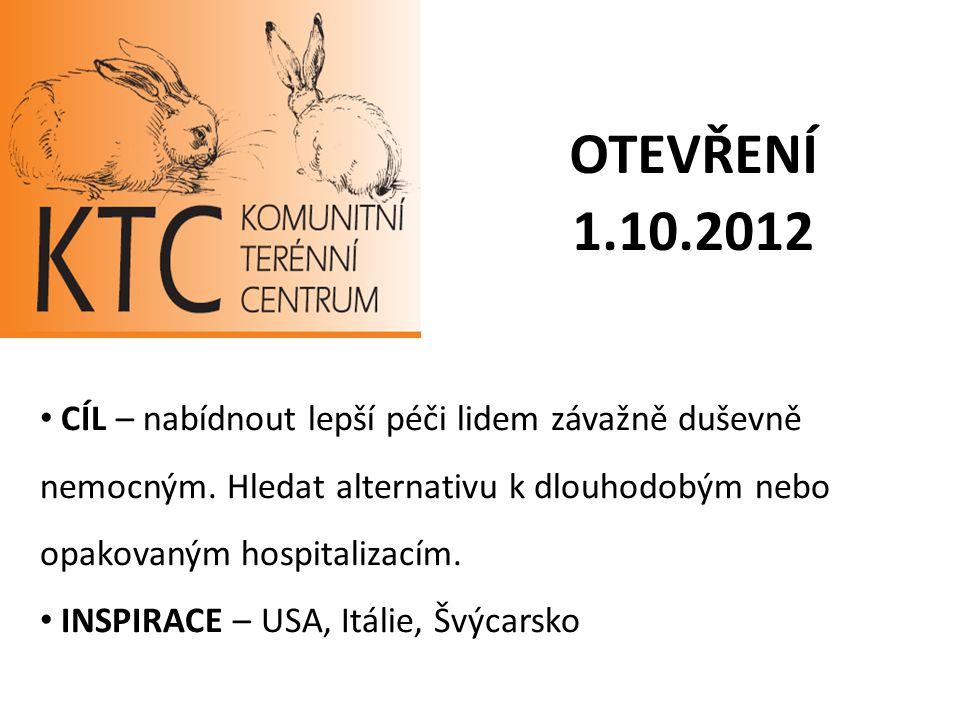 OTEVŘENÍ 1.10.2012 CÍL – nabídnout lepší péči lidem závažně duševně nemocným. Hledat alternativu k dlouhodobým nebo opakovaným hospitalizacím. INSPIRA