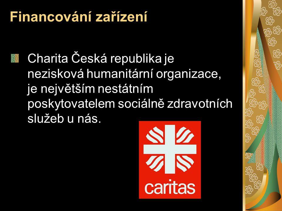 Financování zařízení Charita Česká republika je nezisková humanitární organizace, je největším nestátním poskytovatelem sociálně zdravotních služeb u
