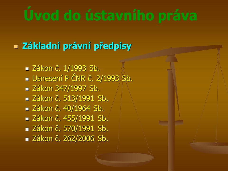 Úvod do ústavního práva Územní samospráva Územní samospráva Kraje Kraje Veřejnoprávní korporace s právem vlastnit svůj majetek a hospodařit podle vlastního rozpočtu Veřejnoprávní korporace s právem vlastnit svůj majetek a hospodařit podle vlastního rozpočtu Mají právní subjektivitu Mají právní subjektivitu ČR je rozdělena na 14 krajů ČR je rozdělena na 14 krajů