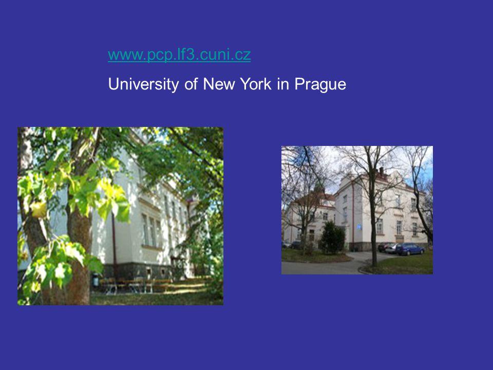 www.pcp.lf3.cuni.cz University of New York in Prague