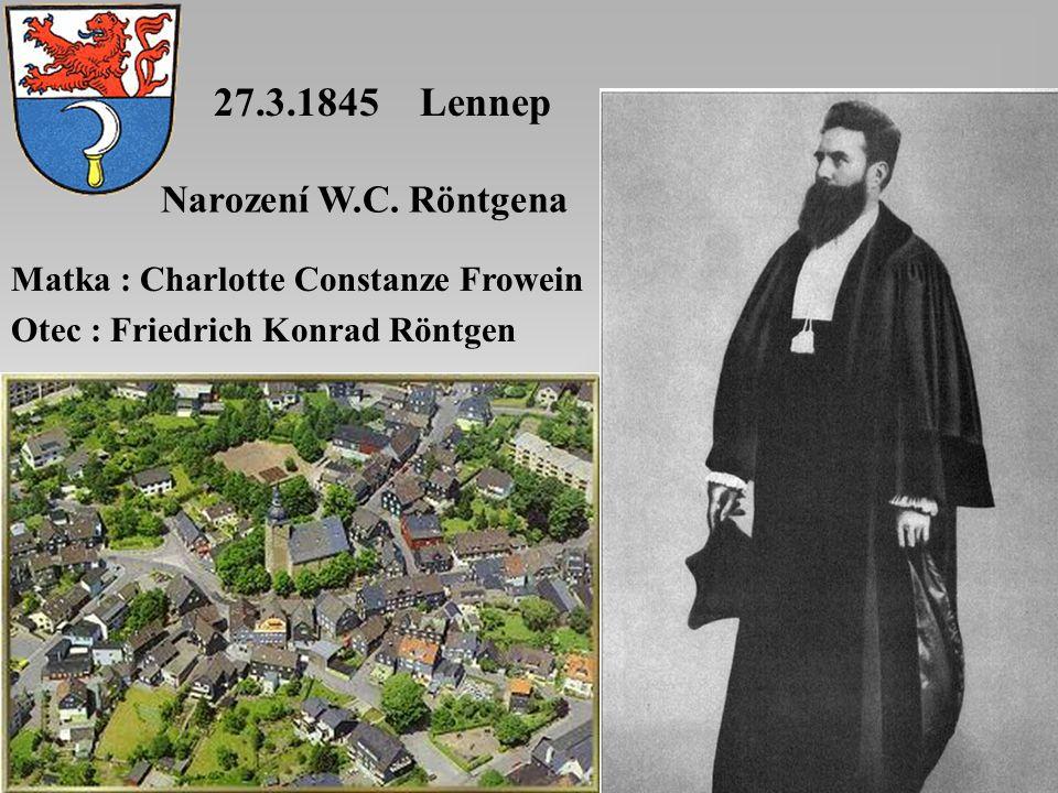 27.3.1845 Lennep Narození W.C.