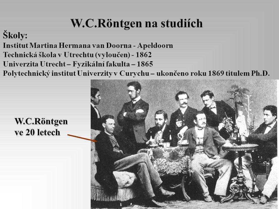 27.3.1845 Lennep Narození W.C. Röntgena Matka : Charlotte Constanze Frowein Otec : Friedrich Konrad Röntgen