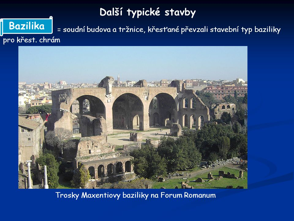 = budovy sloužící jako lázně, čítárny a společenské sály Caracallovy lázně Bath- britské lázeňské město z doby římské Bath Termy
