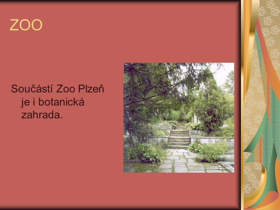 ZOO Součástí Zoo Plzeň je i botanická zahrada.