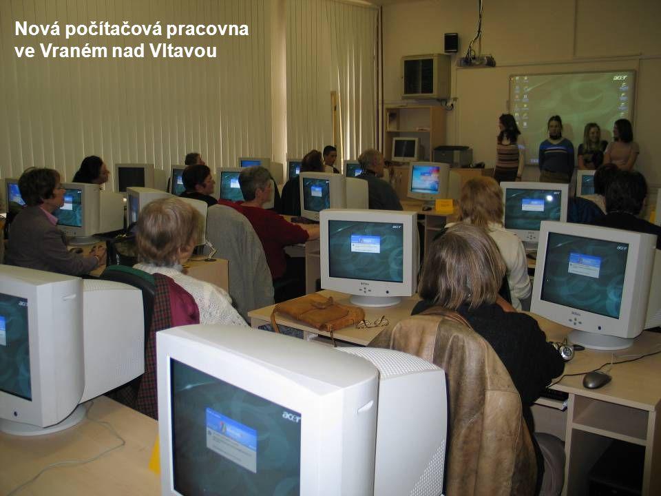 Nová počítačová pracovna ve Vraném nad Vltavou