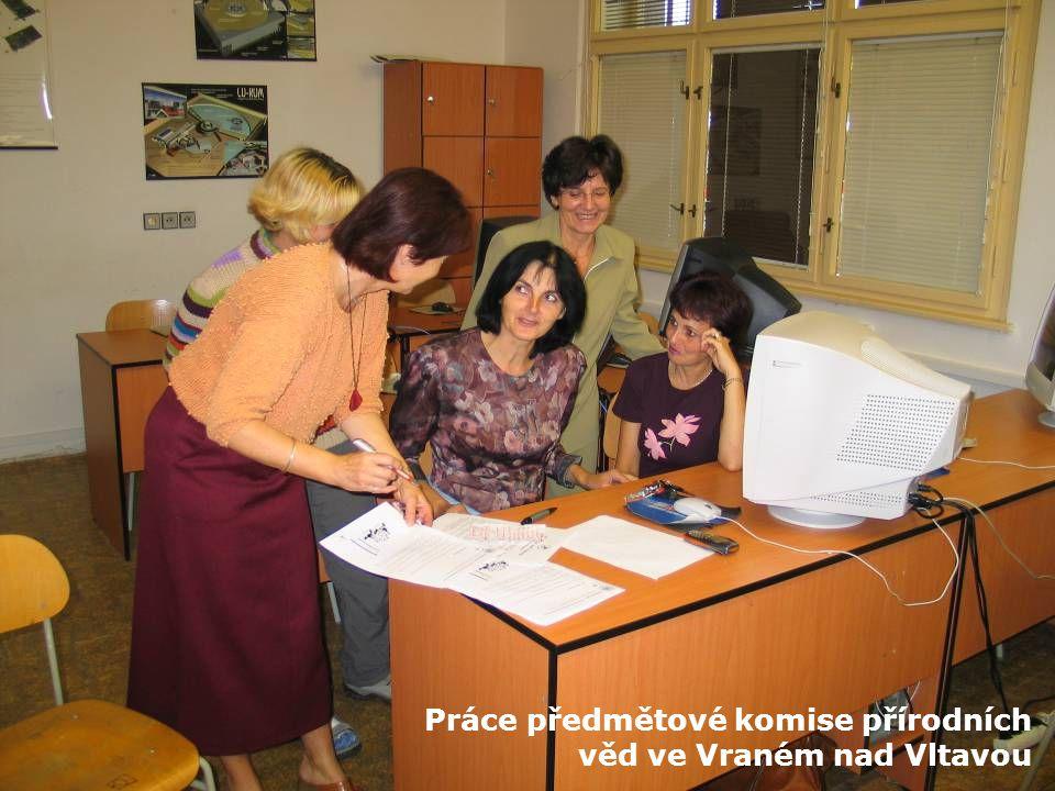 Práce předmětové komise přírodních věd ve Vraném nad Vltavou