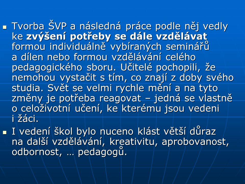 Další vzdělávání učitelů ve Vraném nad Vltavou