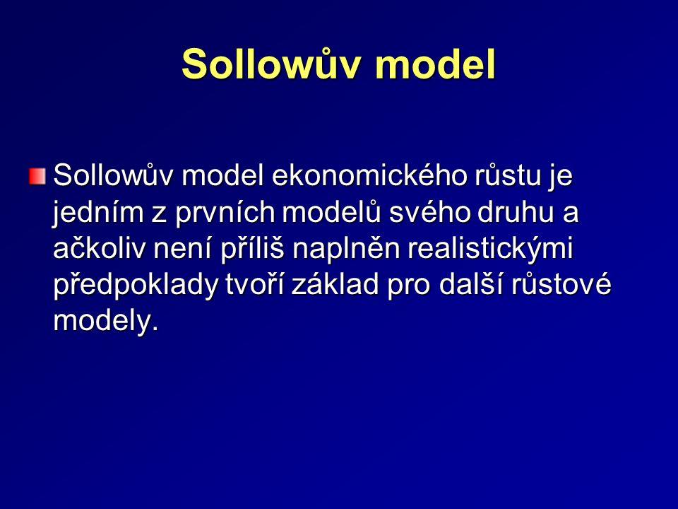 Neoklasický model ekonomického růstu jeho autoři Robert Sollow a T.