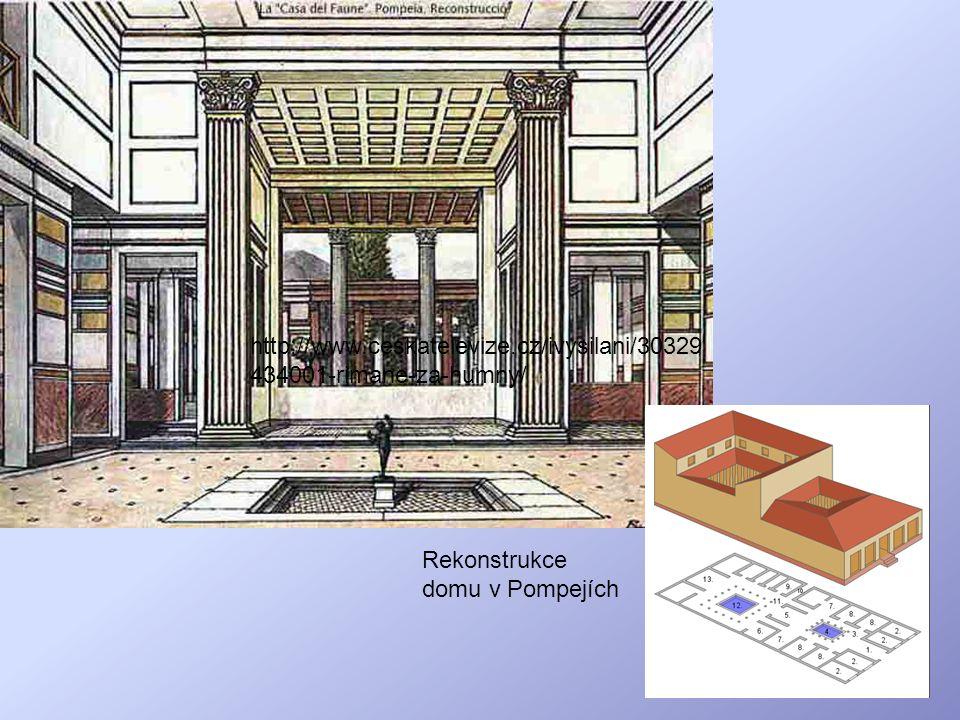 Rekonstrukce domu v Pompejích http://www.ceskatelevize.cz/ivysilani/30329 434001-rimane-za-humny/