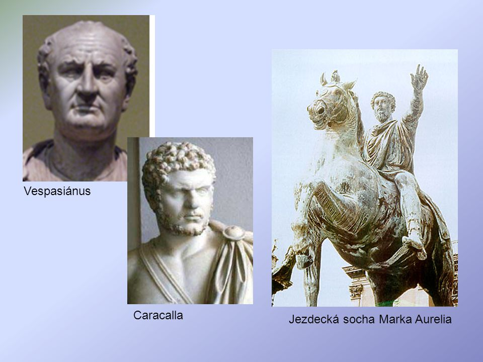 Jezdecká socha Marka Aurelia Vespasiánus Caracalla