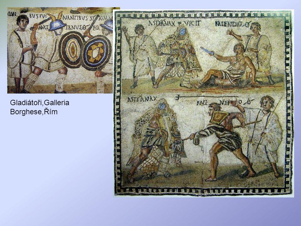 Gladiátoři,Galleria Borghese,Řím